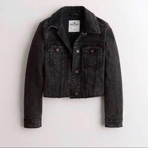 Hollister Black Ripped Denim Jacket